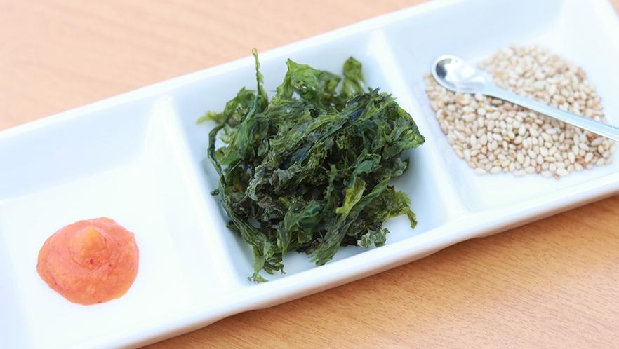金目鯛の出汁茶漬け用には、薬味もご用意しています!