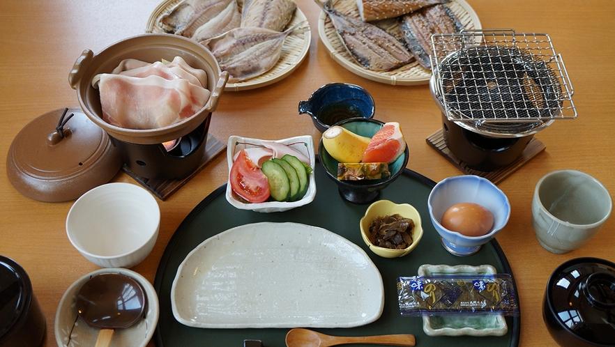 選べる干物!朝ごはん一例