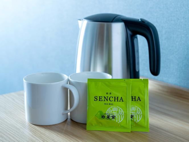 客室湯沸かしポット・お茶セット