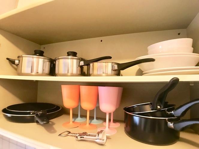 フライパン・お鍋でお料理も。