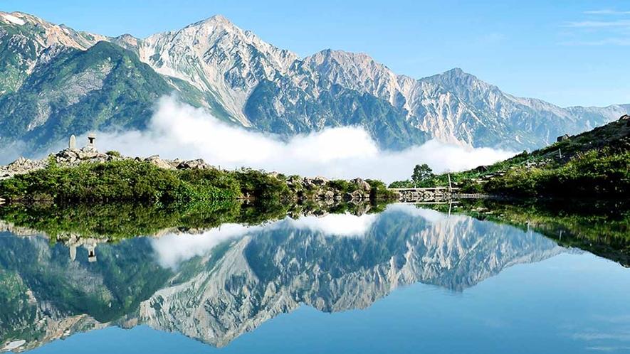 *【周辺観光】八方池山荘から八方池までが定番のトレッキングコースとして親しまれています。