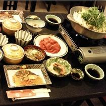 *【夕食全体例】心を込めてお作りする「和会席料理」をお楽しみいただけます。