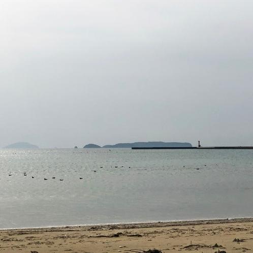 津屋崎海岸、歩いて行けます!