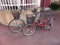 無料貸出自転車(女性用もございます)