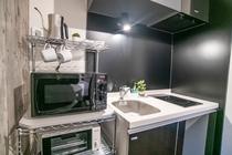 microwave, toaster, kettle