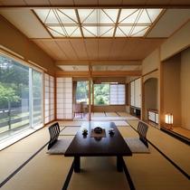 光差し込む開放的な客室