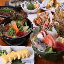 【江坂海鮮食堂おーうえすと】お昼は海鮮丼や定食、夜は入荷の鮮魚のお造りやお料理!