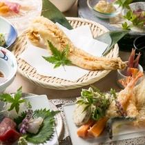 【江坂海鮮天婦羅おーうえすと】新鮮な旬の海鮮がメインの天ぷら専門店!