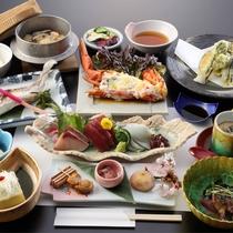 【夕食】地物食材の旬を味わうふるさと料理※旬食材の仕入れ状況により、内容が異なる場合がございます