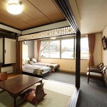 【和洋室】バス・トイレ付35㎡~和室+ベッドルームの贅沢な間取り