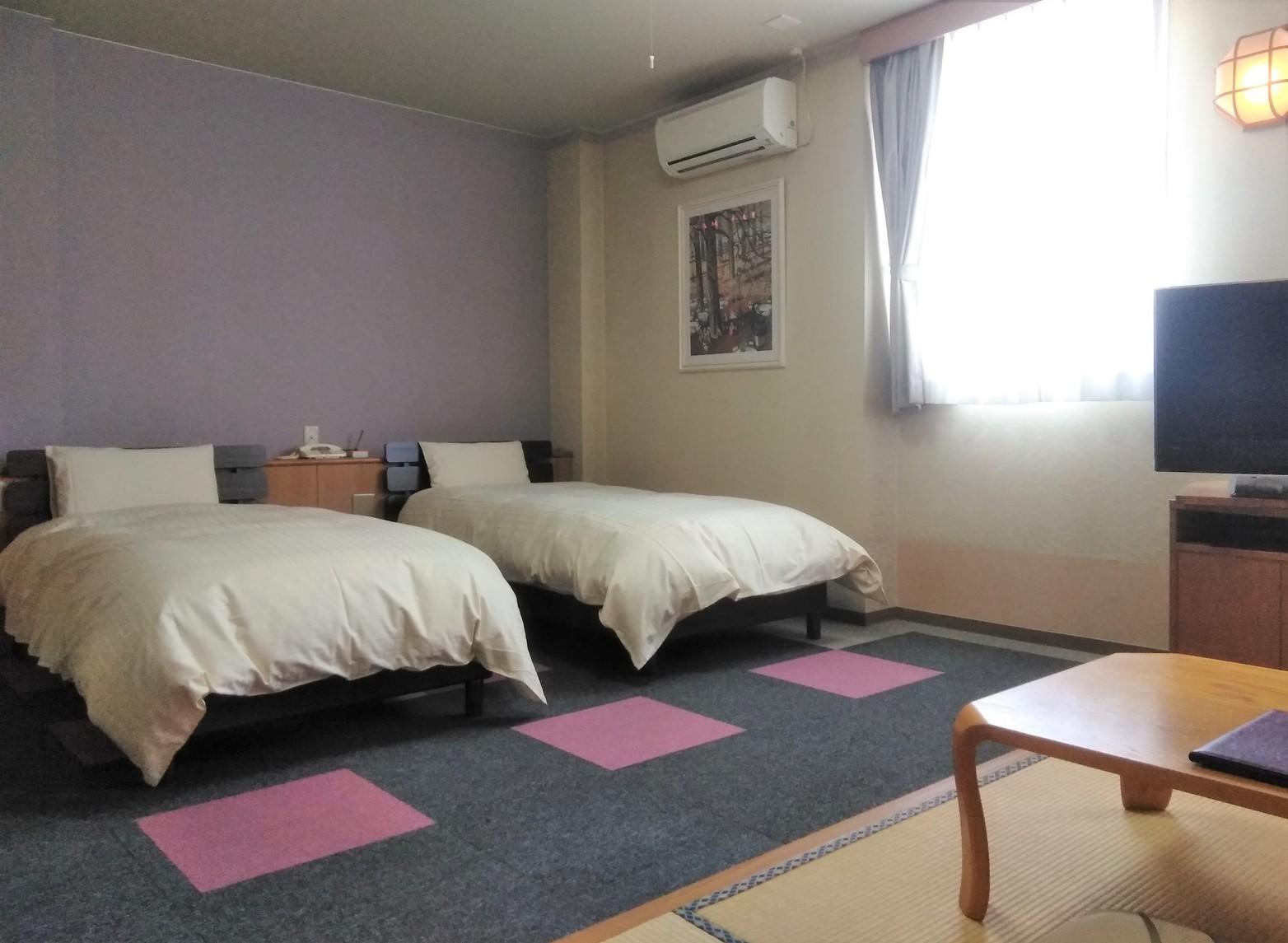 和洋室 ベッドツイン 一例