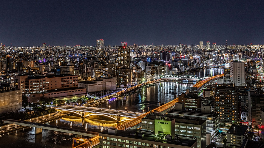 浅草・隅田川方面夜景