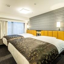 ツインルームB(広さ16.8㎡/ベッド幅140cm×2台)