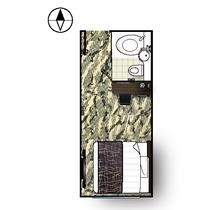 キングベッドルーム【レイアウト】※客室によってレイアウトは異なります。