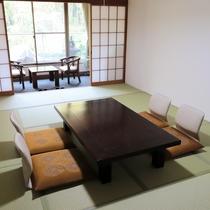 西館12畳:グループやファミリーで人数に応じて、様々なタイプのお部屋がございます。
