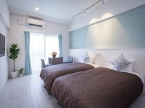 【ツインルーム 27平米】シングルベッド(幅1000mm)2台