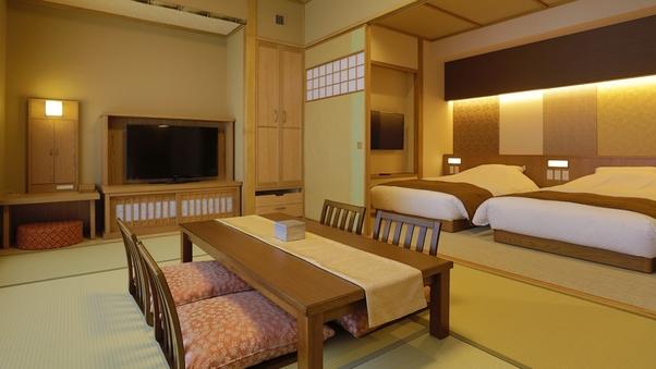 本館 和洋室【露天風呂付】◇49平米(和ベッド2台+お布団)