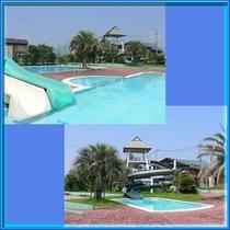 夏休みは隣接するリバーサイドパーク七城にてプールも営業中♪