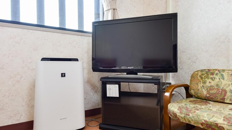*【洋室ツイン】お部屋には空気清浄機も完備しております!快適にお過ごしください♪
