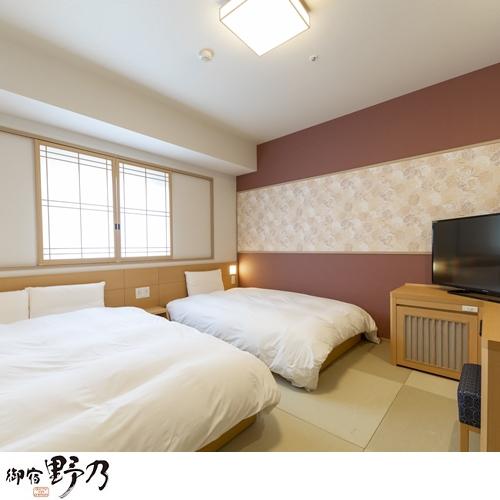 ◆ツインルーム(20平米 ベッド幅:110-120195センチ2台)