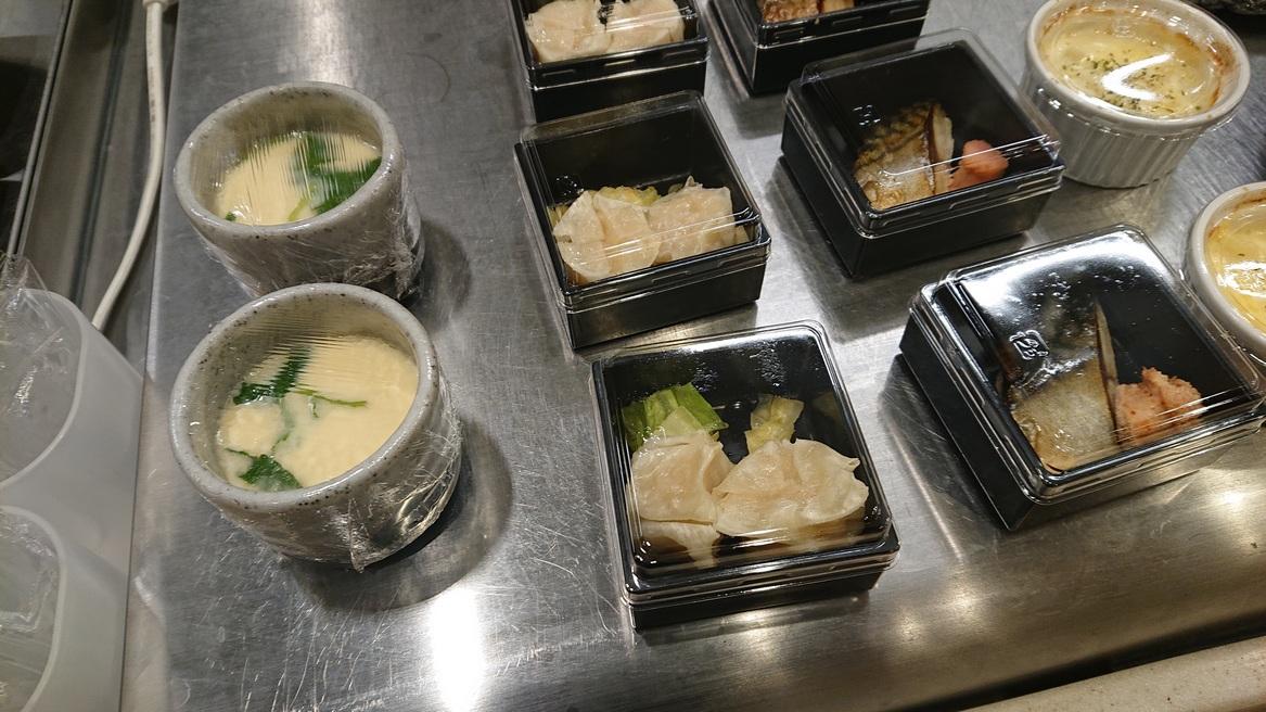 温小鉢(茶碗蒸し・さば・シューマイ)