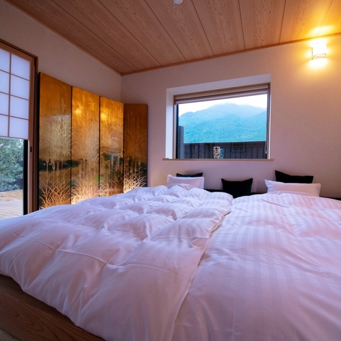 ■榛-hashiba-■ 特別室・露天付き離れ/由布岳を望む離れ特別室。快適さと和の心地よさを併せ持