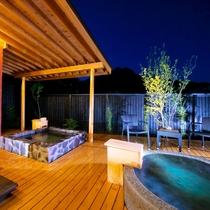 ■榛-hashiba-■ 由布岳を望む離れ特別室。内湯・露天風呂が2ヶ所。快適さと和の心地よさを併せ