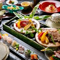 ■DEN RIKYU 会席■ 四季おりおりの生命力にあふれた旬の恵みを、熟練の料理人が真心こめて仕上