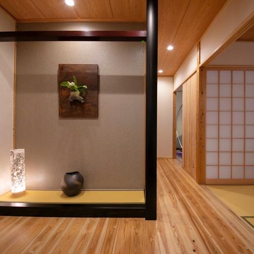 ■榛-hashiba-■ 特別室・露天付き離れ/スタイリッシュな玄関