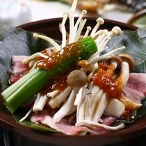 【夕食】朴葉焼