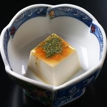 【夕食】白ごま豆腐