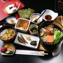 【朝食】<源泉湯豆腐>全体の一例