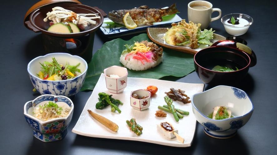 【スタンダード】夕食全体<漢方薬膳料理>の一例です。