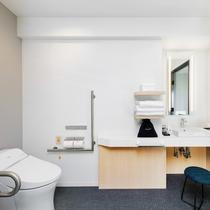 バス・トイレはセパレートタイプです。※9階ロビーには多目的トイレを設置しております