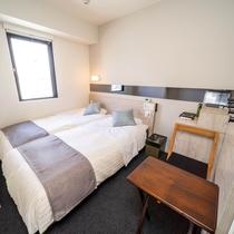 【Natural】2名利用ならこのお部屋!眠りを追及したベッドと適度な硬さのマットでぐっすり♪