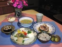 健康夕食の一例
