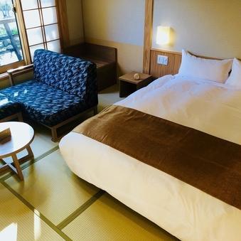 【天然温泉檜内風呂付】和洋ダブル(32平米)