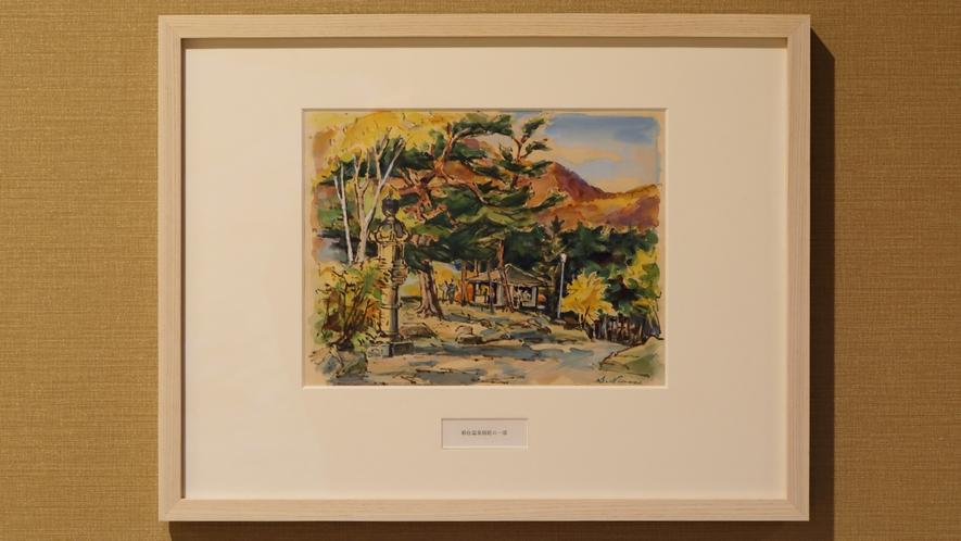 往時の「稲住温泉」に著名人より寄贈された絵画や宿帳を館内に展示。名宿の歴史に触れながら時を忘れて…