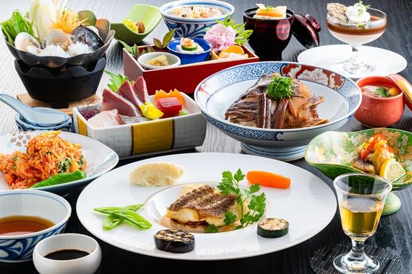 【愛媛の食を楽しむ】こだわりの前菜からスイーツまで11品!創作会席料理プラン