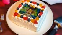 アニバーサリープランではオプションでお好きな画像をケーキにできる「フォトケーキ」もご用意できます。