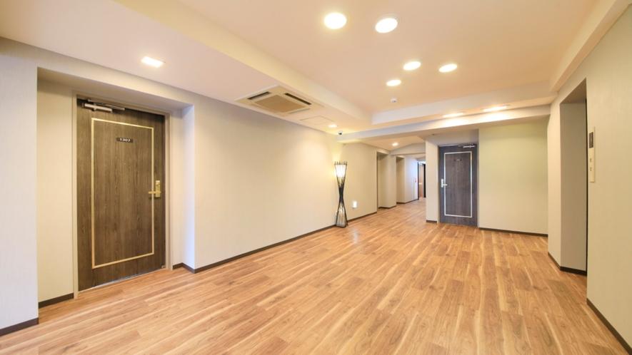 わんちゃんの歩きやすい設計の廊下