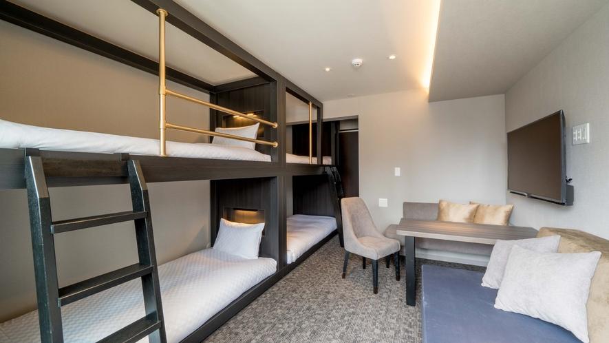 【二段ベッド2台 、ソファベッド1台】 5名定員