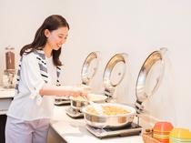 【朝食サービス】お好きなメニューをお好みで盛り付け下さい