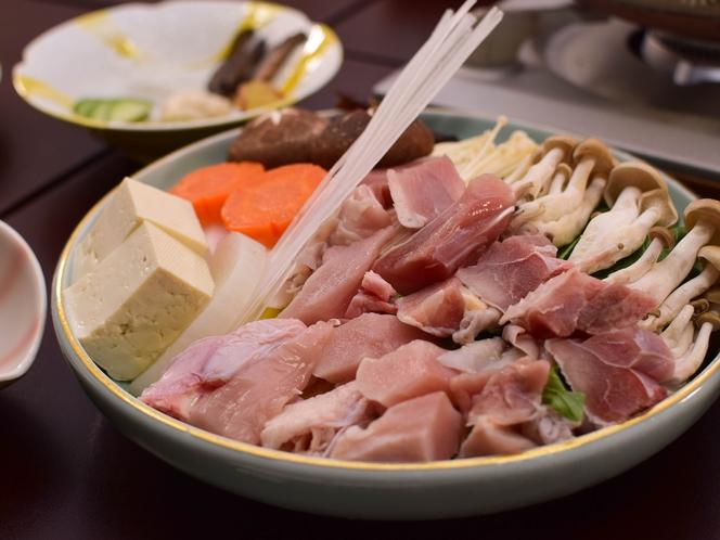 梅ヶ島産の駿河軍鶏鍋