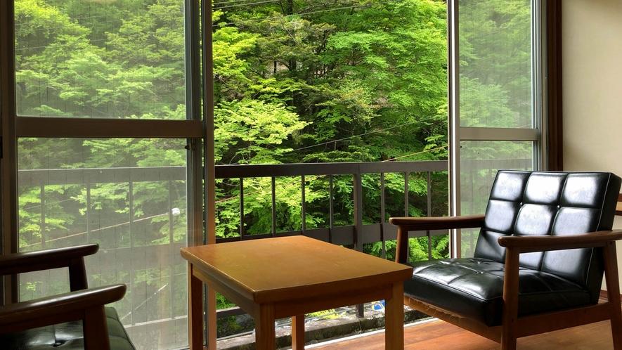 竹の間 新緑の景色をお楽しみください!