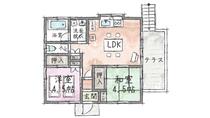 【大川汐見埼20】間取り図