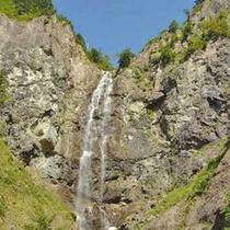 林道にある滝