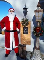 サンタと入り口