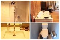 レインシャワー付シャワーブース/ジェットバス/洗面/お手洗い