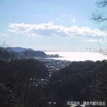 ハイキングコースからの風景